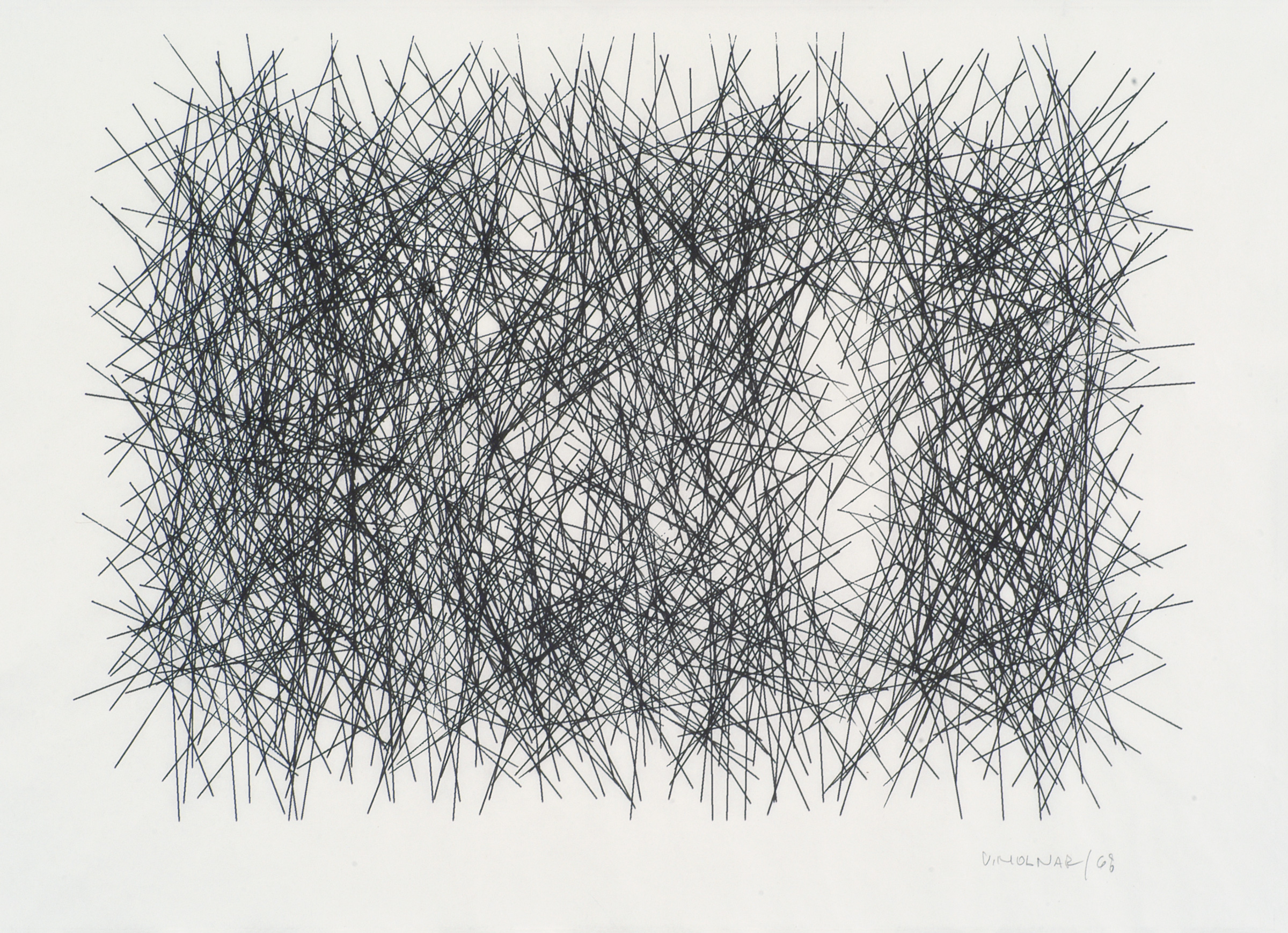 Interruptions No 1, 1968, ink on paper